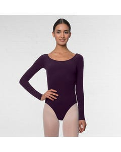 Lulli Long Sleeve Cotton Ballet Leotard Liv