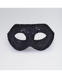 Checkered Sequin Half Face Mask