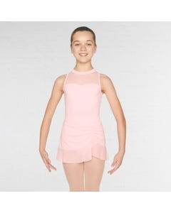 Mirella Mesh Trim Diamante Side Split Skirt
