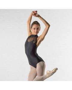 Ballet Rosa Berenice Sleeveless High Neck Leotard with Lace Panel
