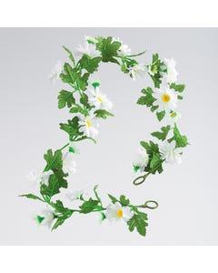 Artificial Daisy Garland - White