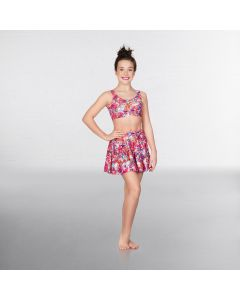 1st Position Print Crop Top Poppy Floral Print