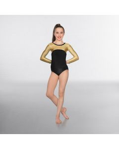 1st Position Alexa Velour Hologram Long sleeved Leotard