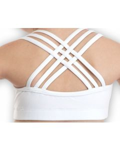 Plume Cross Back Crop Top