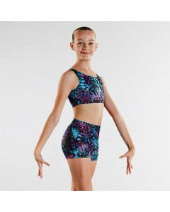 Bloch Girls Jigsaw Printed Crop Top
