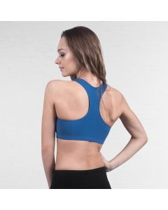 Lulli Brushed Cotton Racerback Dance Bra Top Ella