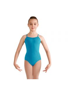 Bloch Diamante Neckline Keyhole Bow Mesh Back Camisole Leotard