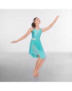 1st Position Glitter Mesh Overlay Lyrical Dress