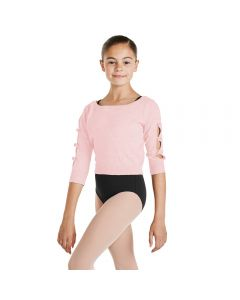 Bloch Girls Bow Sleeve Cropped Sweater