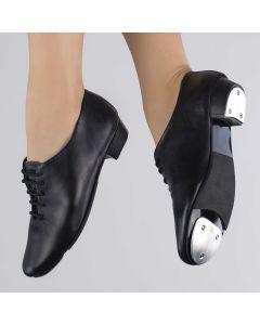 1st Position Junior Leather Lace Up Tap Shoe