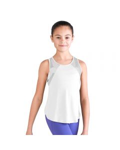 Bloch Daisy Mesh Racer Back Over Lap Tank