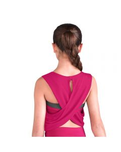 Bloch Printed Drap Cross Back Cropped Tank