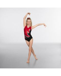 1st Position Premium Cutwork Diamante Sleeveless Gymnastic Leotard