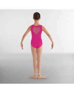 Bloch Miame Heart Mesh Tank Leotard With Heart Cutout back