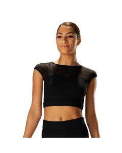 Mirella Cap Sleeved Crop Top
