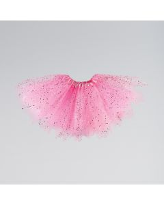 Triple Layered Tutu Skirt with Sequins and Glitter Child One Size