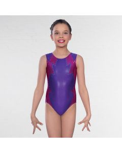 1st Position Teigan Cutwork Side Panel Sleeveless Leotard