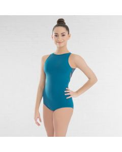 Revolution Strappy Mesh High Neck Leotard