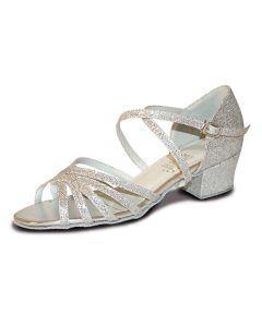 Roch Valley Bella Ballroom Hologram Shoe X-Straps 1.2  inch Cuban Heel