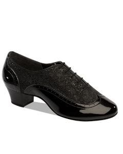 Supadance Patent/Black Stingray Mens Latin Shoe
