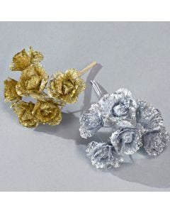 Glitter Flower pack of 6 Bunches