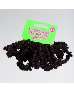 Thick Black Hair Scrunchie Elastics