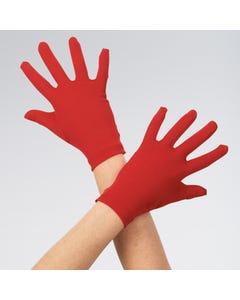 Childs Short Satin Gloves Red