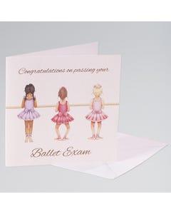 Little Ballerina Congratulations Single Card